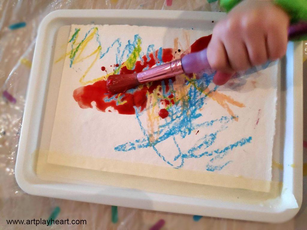 Apply watercolour paint