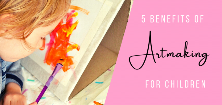 toddler painting at easel 5 Benefits of artmaking for children