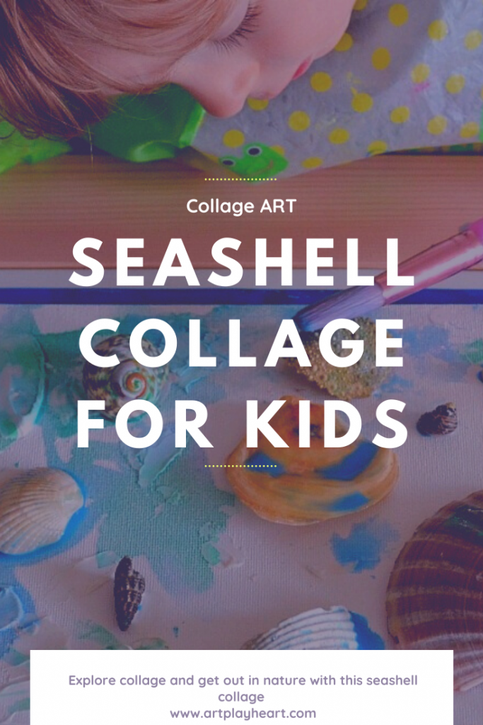 Create a seashell collage for toddlers and children