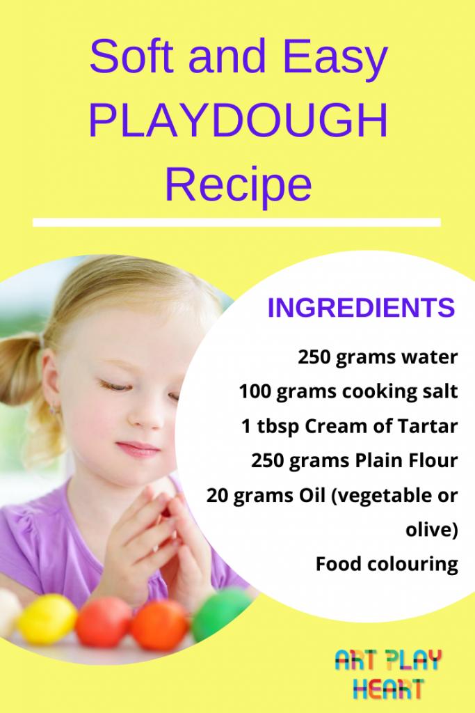 Soft and easy Playdough recipe