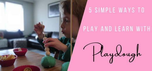 5 simple way to play & learn with playdough