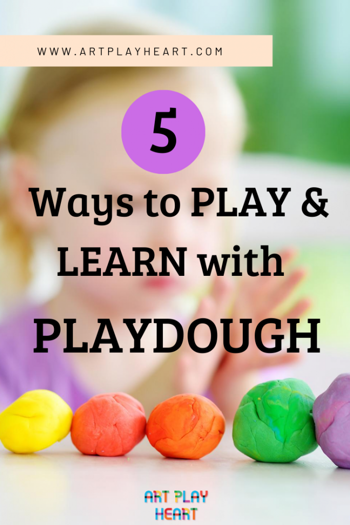5 Ways to play and learn with playdough