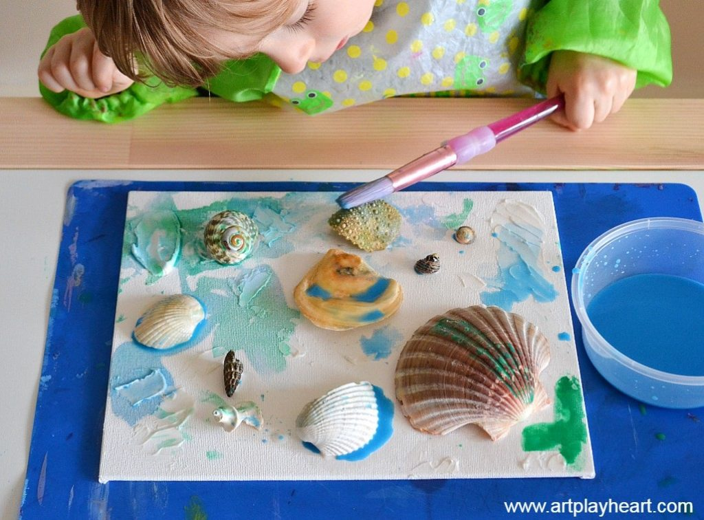 Painting Seashell Collage