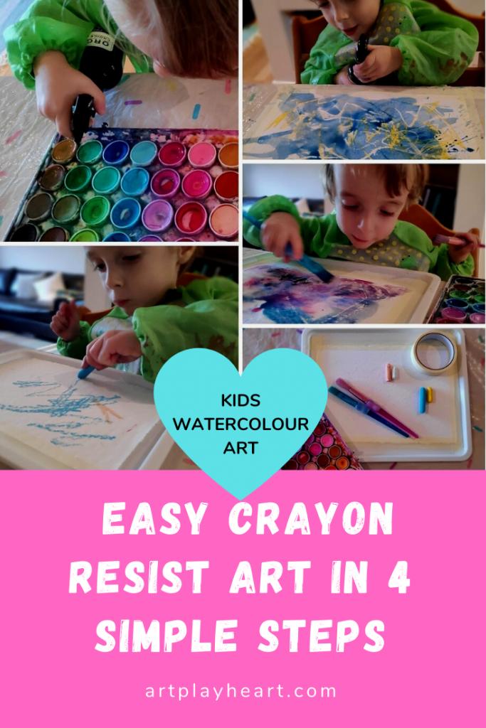 Easy crayon resist art in 4 simple steps