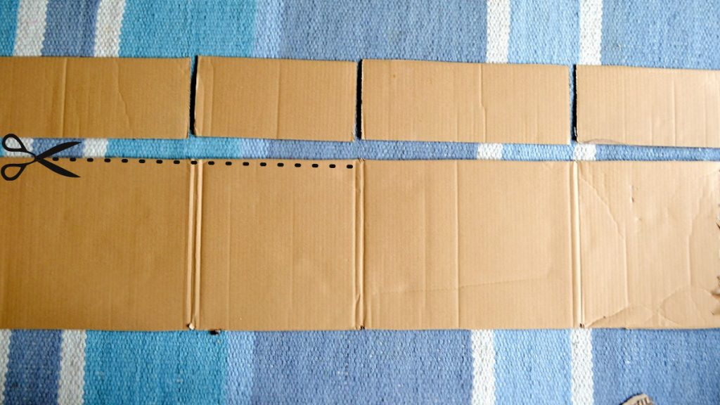 Box with directions for where to cut