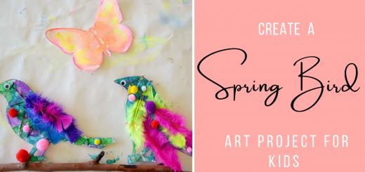Spring bird art project