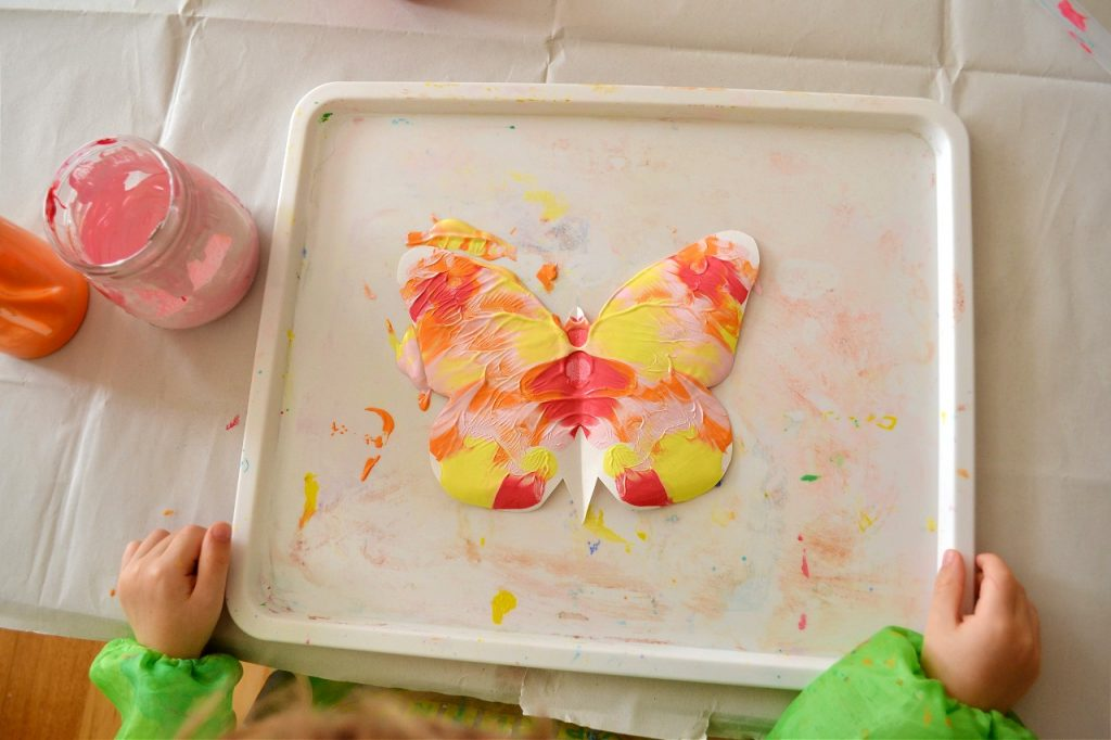 Butterfly Symmetry Painting for Kids