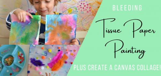 Bleeding Tissue Paper Painting